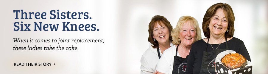 Pottstown Joint Replacement Testimonial Banner